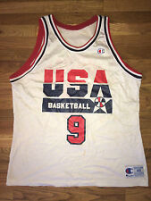 MICHAEL JORDAN Vtg 90s 1992 USA Dream Team OLYMPIC basketball CHAMPION Jersey 48