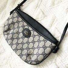 AUTHENTIC Vintage GUCCI Monogram Canvas Crossbody Bag BLACK