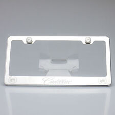 New Style Cadillac Suv License Plate Frame Laser Engrave Bracket Stainless Steel