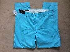 BNWT Ralph Lauren Mens Preppy Pant Trousers Teal 34 x 34 RRP £110 Golf?