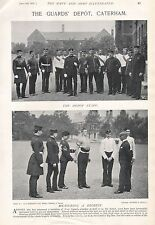 1897 ANTIQUE MILITARY PRINT- THE GUARDS DEPOT, CATERHAM, 4 PAGES
