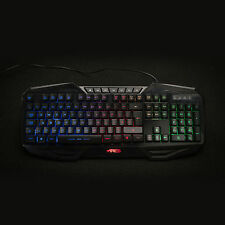Ares K3 Rainbow Colors Backlit USB Wired Illuminated Gaming Keyboard UK Layout