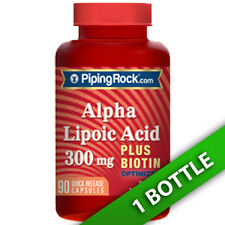 Alpha Lipoic Acid 300 mg plus Biotin Optimizer, Quick Release 90 Caps by Piping