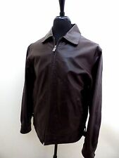 WILSONS M JULIAN MEN'S BOMBER CONCEALED GUN  CARRY POCKET LEATHER JACKET S SMALL