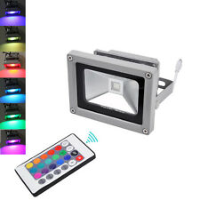 10W AC 85-245V LED RGB Flood Light Outdoor Landscape Lamp Waterproof Spotlight