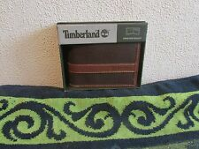 NEW MEN'S TIMBERLAND HUNTER PASSCASE/ CLOUDY TRIFOLD LEATHER/CANVAS WALLETS.