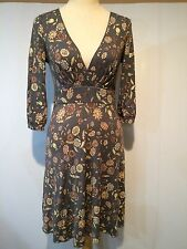 Free People Multi Color Lyocell Spandex Floral Stretchy Mini Dress Sz.xs