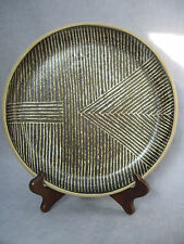 JANET ADAM RETRO STUDIO POTTERY PLATE , GEOMETRIC DESIGN