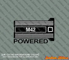 """ M42 Powered "" M42B18 theme STICKER - For BMW e30 / e36 318is"