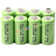 8x Ni-MH 1.2V 2/3AA 1800mAh rechargeable battery NI-MH Batteries For Phone Toy
