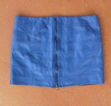 Revival electric blue faux leather micro mini club skirt sz 12 BUY 5 FREE POST