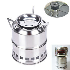 Outdoor Wood Stove Stainless Steel Lightweight Solidified Alcohol Camping Stove