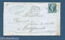 Classique de France sur lettre Napoléon N°22 cachet étoile de Paris N°12