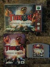 Turok Rage Wars Gray Variant Complete with Hard-shell case (Nintendo 64, 1999)