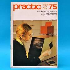 DDR practic 2/1975 Wasserfahrrad Raumteiler Practica Blumenbank Drehzahlmesser S
