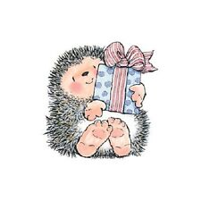 PENNY BLACK RUBBER STAMPS HEDGEHOG A GIFT FOR YOU STAMP