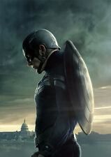 POSTER A4 PLASTIFIE-LAMINATED(1 FREE/1 GRATUIT)*FILM CAPTAIN AMERICA.CIVIL WAR.