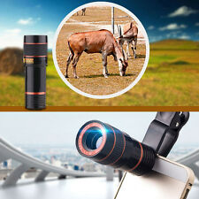 Clip On 8X Zoom Phone Telephoto Camera Lens for iPhone Samsung HTC Cellphone 3W