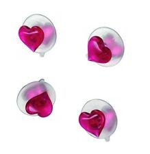 Haceka Hanging Systems Suction hooks Hook with heart Motif 4 Pieces Towel hook