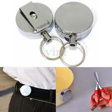 2X Fly Fishing Zinger Retractable Reel Cord Retractor Stainless Steel Tool Clip