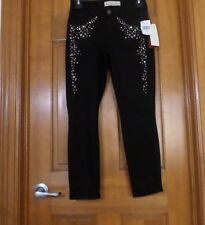 NWT $178 CJ by COOKIE JOHNSON BLACK LEGGING JEANS w STUDS & RHINSTONES....4/25
