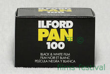 3 rolls ILFORD PAN 100 Black and White 35mm 36exp Film FREESHIP