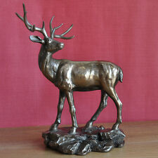 Large Stag Ornament Deer Sculpture Bronze Standing Monarch Art Figure NEW 34007