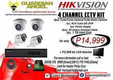 CCTV CAMERA - Guardian Angel Package 2- 4 Channel HIKVISION CCTV Kit