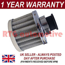 18mm AIR OIL CRANK CASE BREATHER FILTER FITS MOST VEHICLES SILVER ROUND