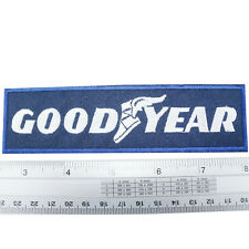 """GoodYear Tyre embroidered iron on patches appliques 1.5x5.5"""" Blue&White"""
