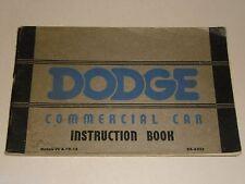 Betriebsanleitung Handbuch Owner's Manual Handbook Dodge VC & VD-15