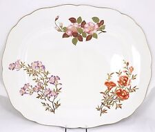 FINE ANTIQUE HAND PAINTED GILT FLORAL OVAL PLATTER 5 ROYAL WORCESTER CHINA W1701