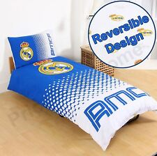 REAL MADRID CF FADE SINGLE DUVET COVER SET - OFFICIAL FOOTBALL BEDDING