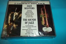 JAZZ MASTERS & THE SOUND OF JAZZ 2 COMPACT DISC PACK MCPS SI025 NEW SEALED