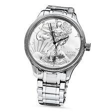 2016 Men's Silver American Eagle Watch Stainless Steel Bracelet - SKU #96226
