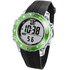 New Pyle PSNKW30GN Green Snorkeling Master Watch w/ Dive  Depth  Temp Records