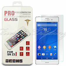 Premium Real Tempered Clear Glass Screen Protector Guard Film for Sony Xperia Z3