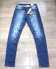New Blue Stars VINGINO ANDROMEDA Slim Fit Faded Stretch Jeans size 16 Years L31