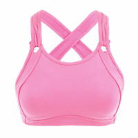 Blue&Pink Womens Full Coverage Wirefree Non-Padded Running Sports Bra 34~44 B~E