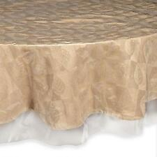 Crystal Clear Tablecloth Protector - 70-Inch Round Cover Protect fine linens New