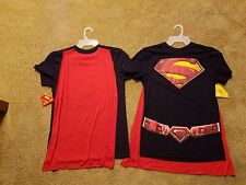 Superman T Shirt /Removable  Cape Small Christmas  Men And WOMEN shirt Tee