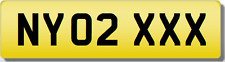 NY NYO  XXX SEXY 320 120 220 520 X2 Private CHERISHED Registration Number Plate
