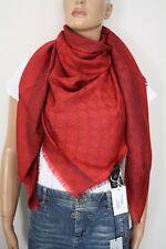 GUCCI Strickschal mit GG-Muster 140x140 cm Wolle/Seide orange NEU 281942