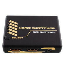 3x2 3 INPUT 2 OUTPUT HDMI Switch Switcher Splitter 3D 1080P US Adapter