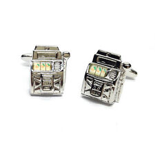 Slot Machine One Armed Bandit Cufflinks & Gift Pouch Fruit Machine