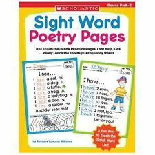 Sight Word Poetry Pages: 100 Fill-in-the-Blank Practice Pages That Help Kids Rea