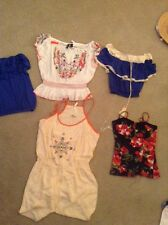 Lot Of 5 Women's Tops Swimsuits Cover Up Beach Wear Free Beach Hat Wholesale��