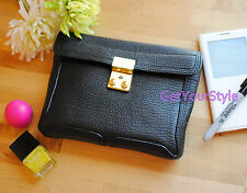 "NWT 3.1 Phillip Lim ""Pashli"" Black Leather Small Clutch $425+"