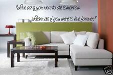 Wall Story Live As If You Were To Die Tomorrow Quotes definition words custom