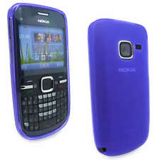 NEW Purple Jelly Case Cover Gel Skin for Nokia C3-00 C3